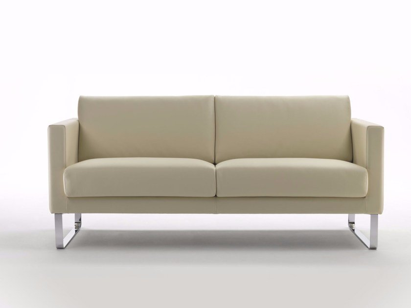 Sled base 3 seater sofa CUBIC BASE S | Sofa by Marelli