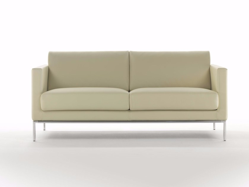 Sectional corner leather sofa CUBIC BASE T | Sofa by Marelli