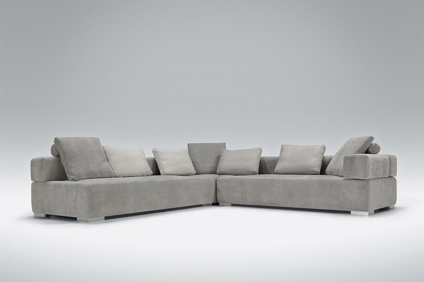 Corner Sectional Upholstered Fabric Sofa Cubic By Sits