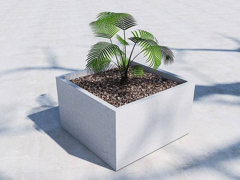 Square Flower pot CUBIK (60) | Flower pot by Sit