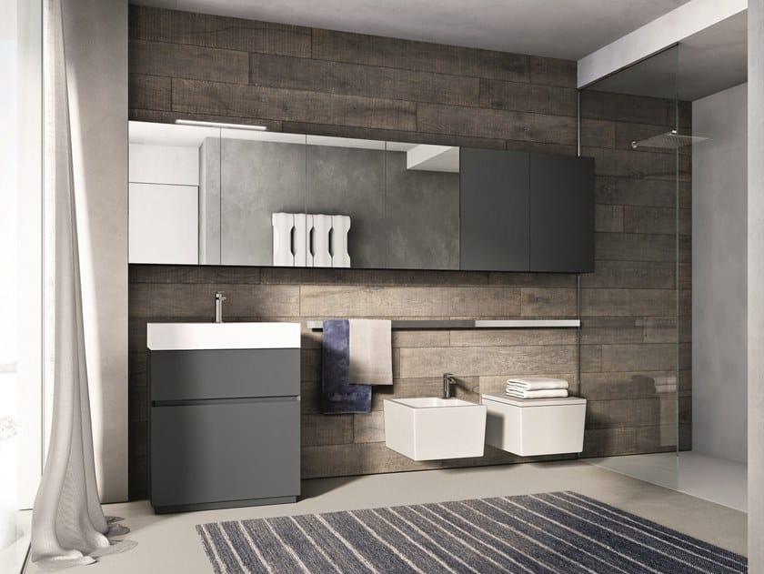 Wooden bathroom furniture set CUBIK COMP. 1 by Idea