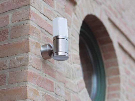 Glass and Stainless Steel Outdoor wall Lamp CUBIX D by BEL-LIGHTING