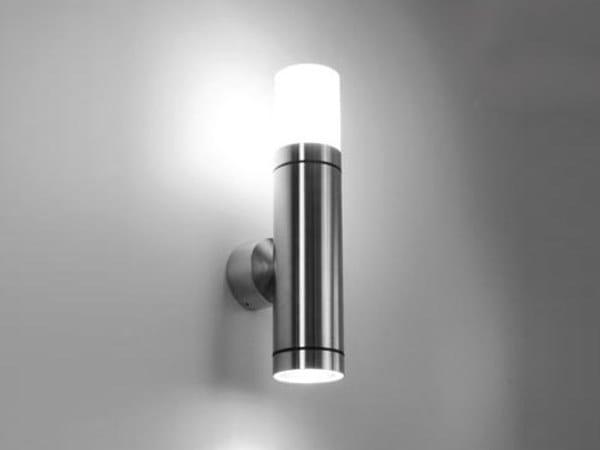 Applique per esterno in acciaio inox e vetro cubix g collezione