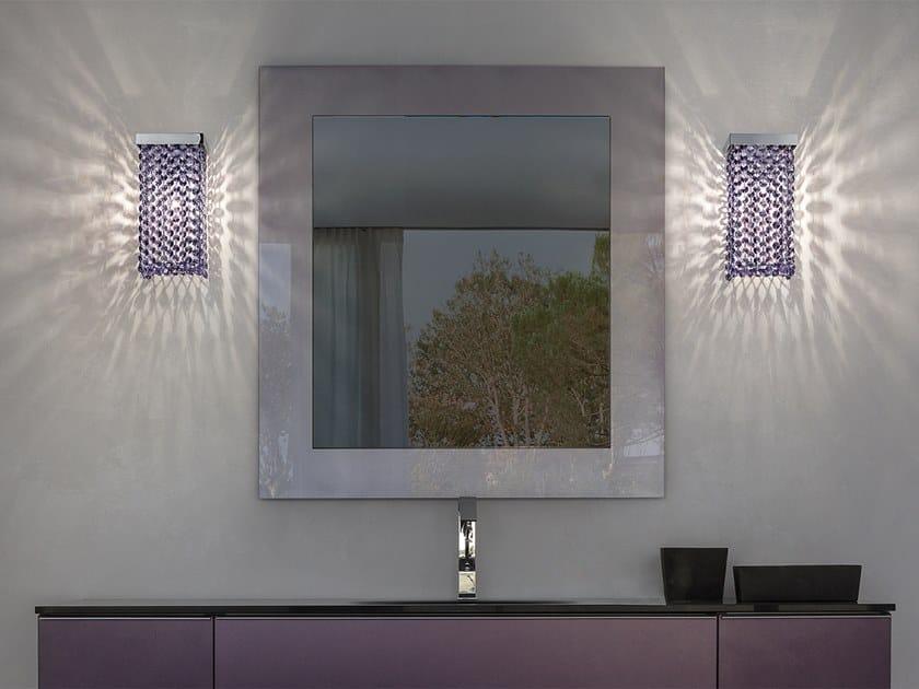 Lampada da parete in metallo con cristalli CUBO A SQUARE by Masiero