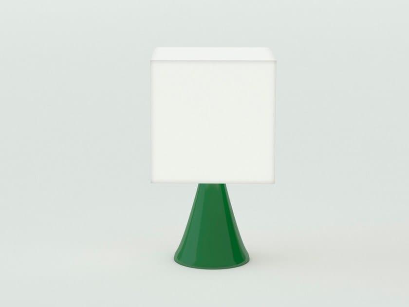 Polyethylene bedside lamp CUBO STAND by SLIDE