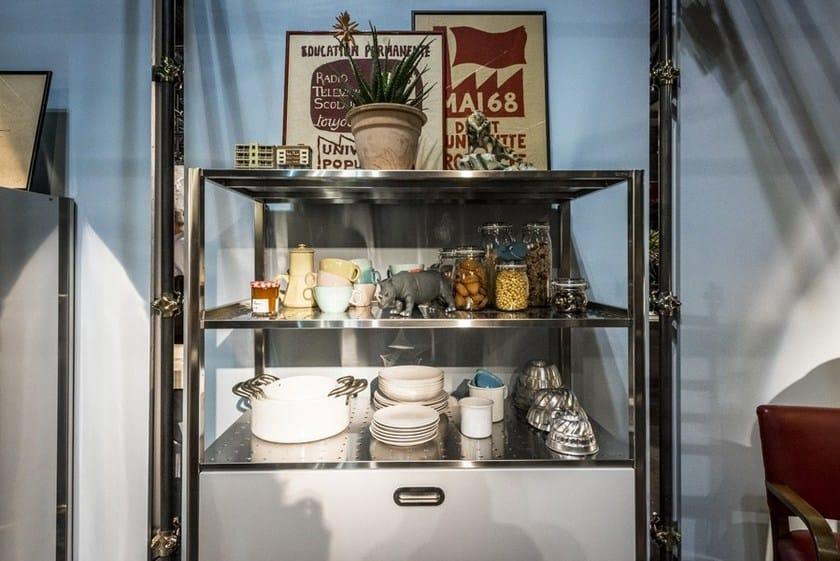 CUCINA CONVIVIO – TOP INOX 125X310 | Kitchen with island Liberi in ...