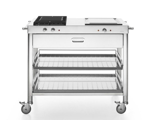 Gas Electric outdoor kitchen with Grill CUCINA OUTDOOR 100 – GRILL E TEPPANYAKI | Outdoor kitchen by ALPES-INOX