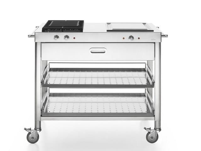 OUTDOOR 100 | Cucina da esterno con grill By ALPES-INOX