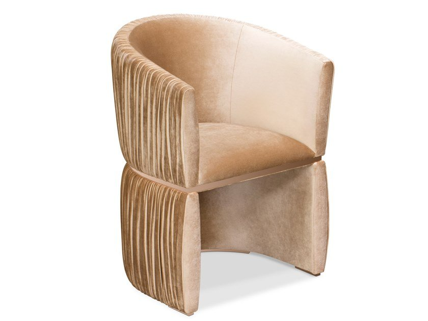 Velvet easy chair with armrests CUFF by KOKET