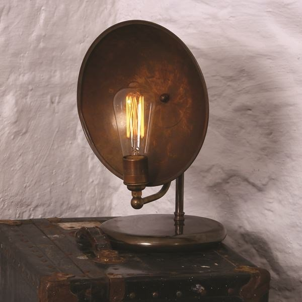 Handmade brass table lamp CULLEN INDUSTRIAL TABLE LAMP by Mullan Lighting