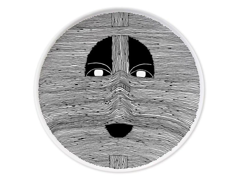 Piatto piano in ceramica CULTURES MUDEC IV by Kiasmo