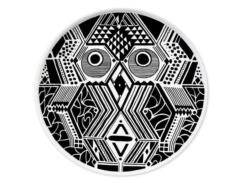Ceramic dinner plate CULTURES MUDEC VI by Kiasmo