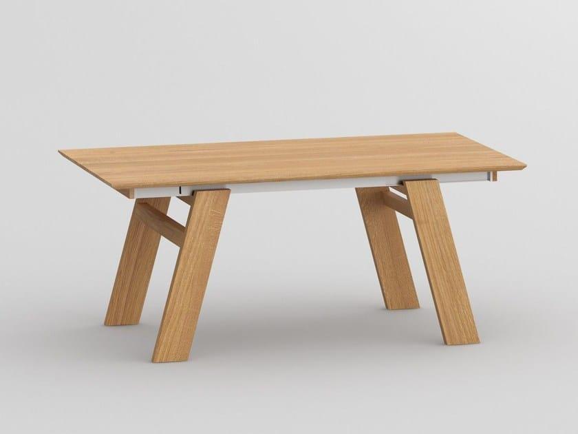 Tavolo allungabile rettangolare in legno massello CULTUS by Vitamin Design