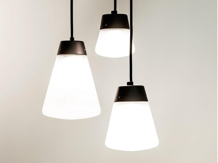 Glass and aluminium pendant lamp CUP CAKE   Pendant lamp by Dark