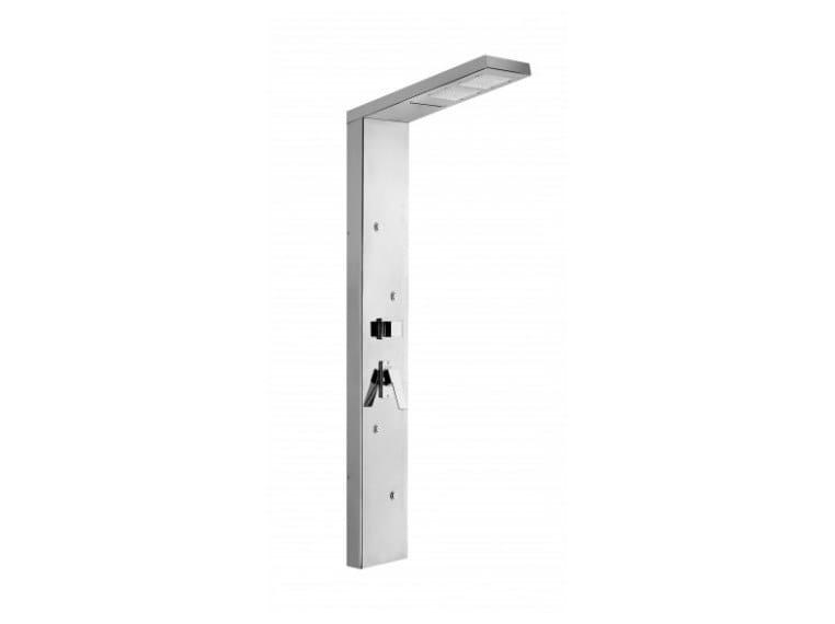 Colonna doccia a parete in acciaio inox con soffione CUPIDO by Ama Luxury Shower