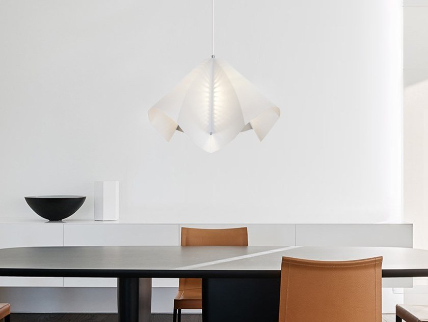 Lampada a sospensione a LED in carta giapponese CUPOLA by SMALL RABBIT DESIGN