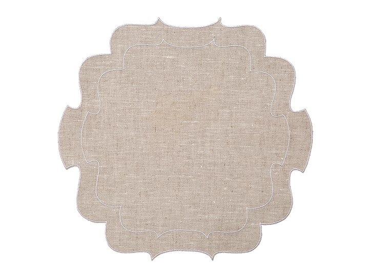 Linen placemat, set of 6 CURLY | Placemat by La Gallina Matta