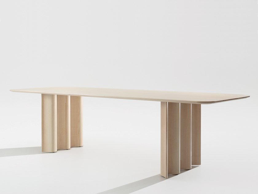 Solid wood dining table CURTAIN by ZEITRAUM