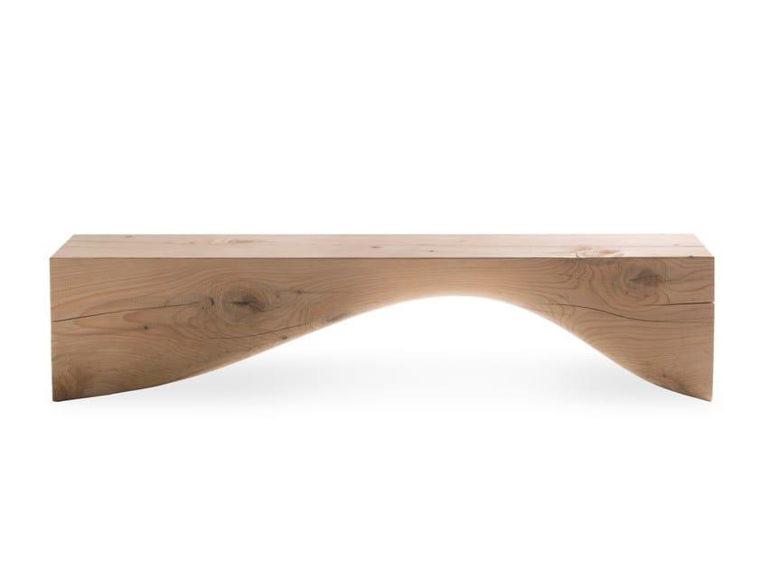Cedarwood bench CURVE BENCH by Riva 1920