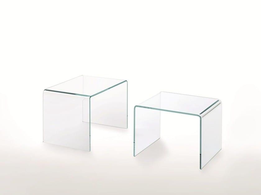 Glas Curvi Cristallo Basso In Tavolino Italia Rettangolare nX0Pw8Ok
