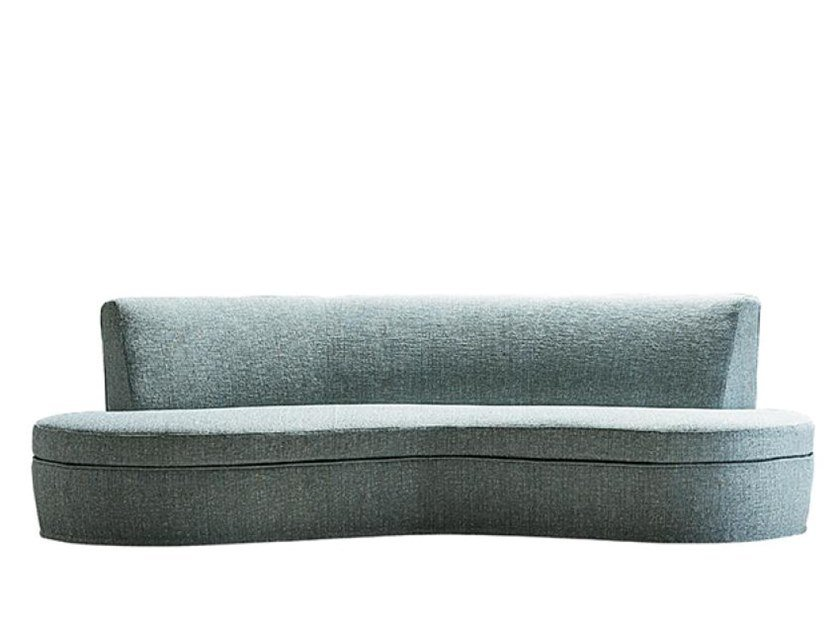 Curved fabric sofa with removable cover CURVY by Casamilano