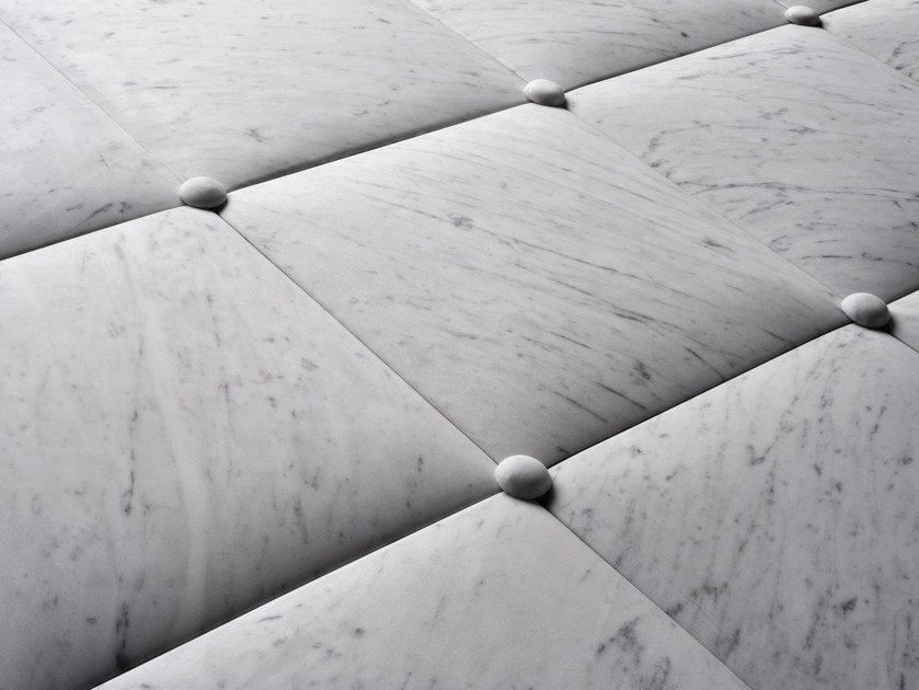 Carrara marble 3D Wall Cladding CUSCINI by SALVATORI
