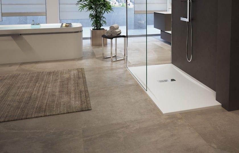 Anti-slip rectangular acrylic shower tray CUSTOM by NOVELLINI