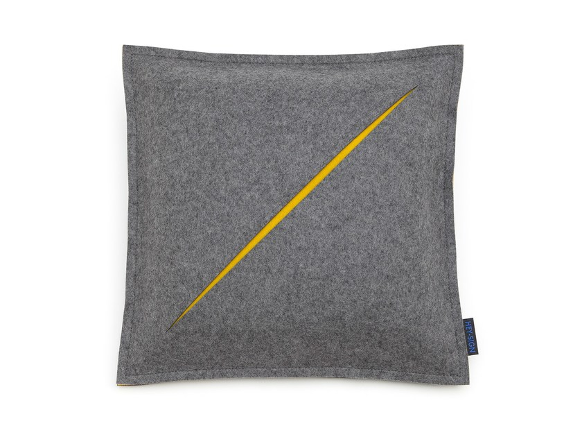 Square felt cushion CUT | Cushion by HEY-SIGN