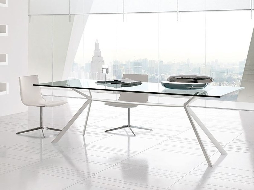 Rectangular steel table CUT | Rectangular table by ALIVAR