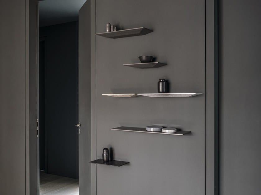 Solid wood wall shelf CUT | Wooden wall shelf by Schönbuch