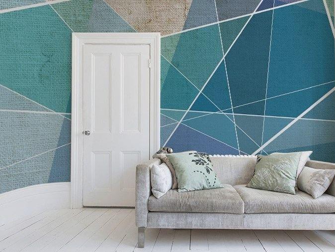Geometric vinyl wallpaper CUTTINGS by GLAMORA