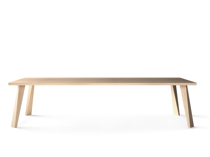 Rectangular solid wood table CUZCO by Montis