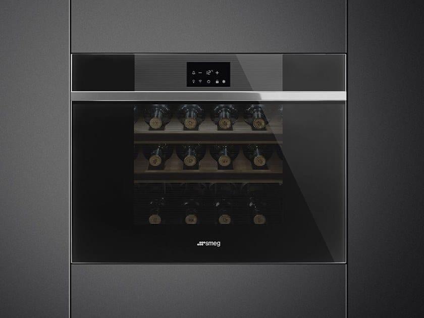 Built-in wine cooler Class A + CVI118-WN2 by Smeg