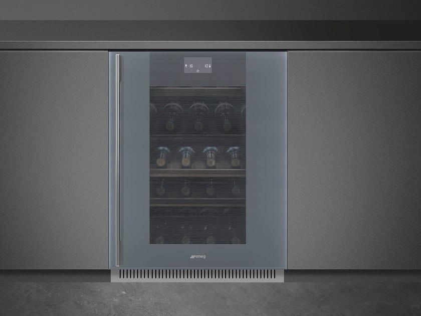 Built-in wine cooler Class A + CVI138-WS2 by Smeg