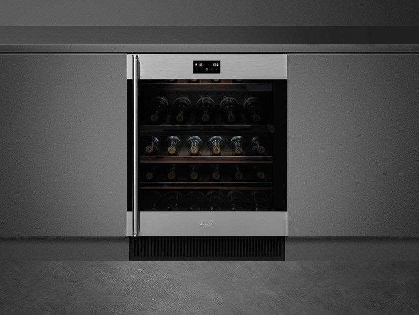 Built-in Glass and Stainless Steel wine cooler Class A CVI338-WX2 by Smeg