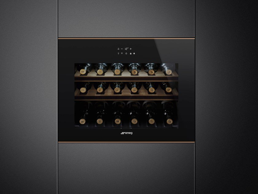 Built-in wine cooler Class A + CVI618-WNR2 by Smeg