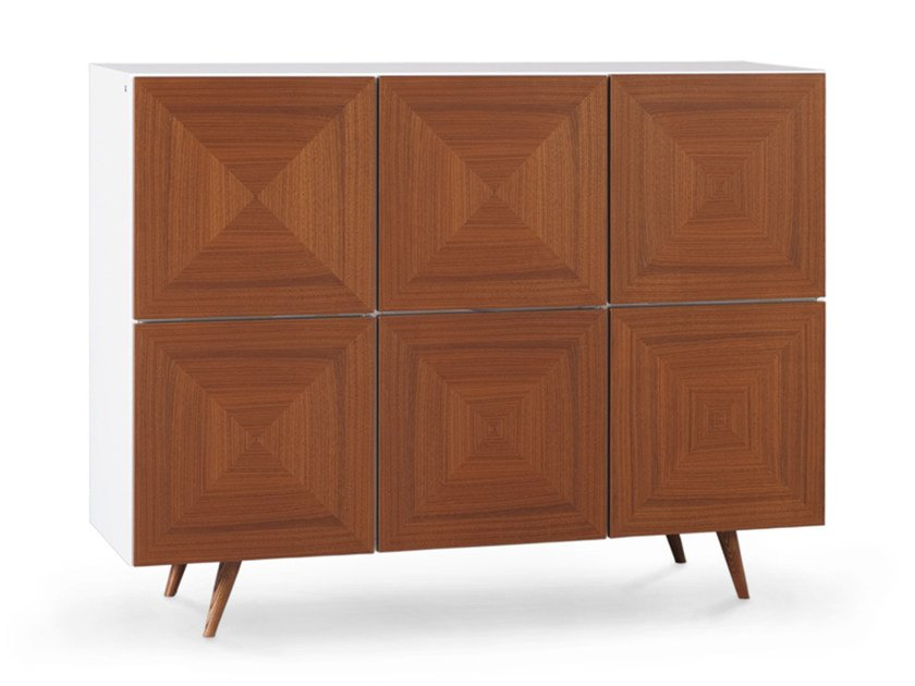 Lacquered walnut highboard with doors CITY | Highboard by Oliver B.