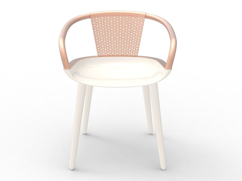 Polycarbonate chair with armrests CYBORG DAISY by Magis
