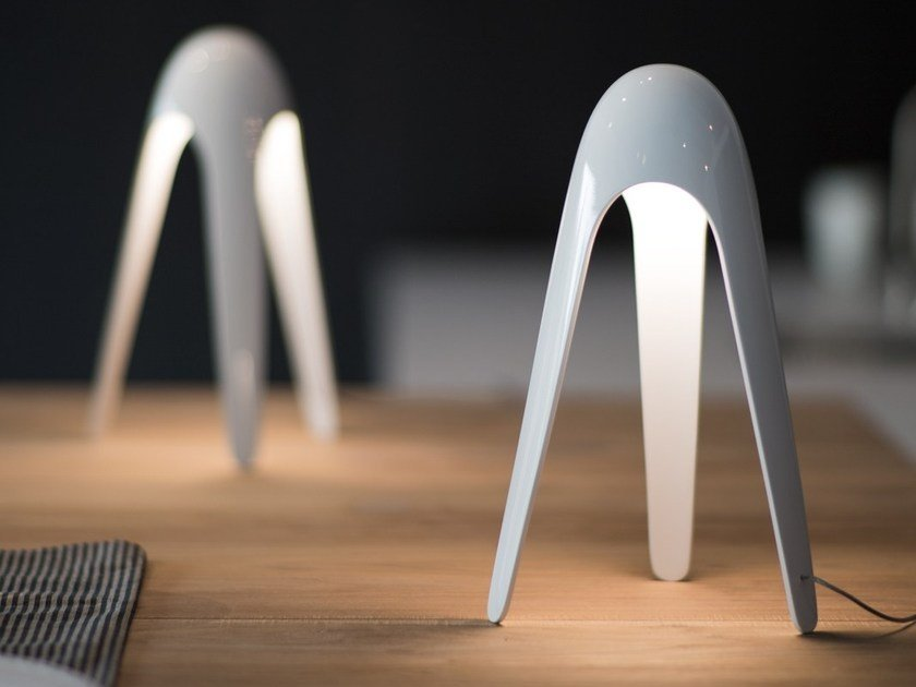 LED polycarbonate table lamp CYBORG by Martinelli Luce