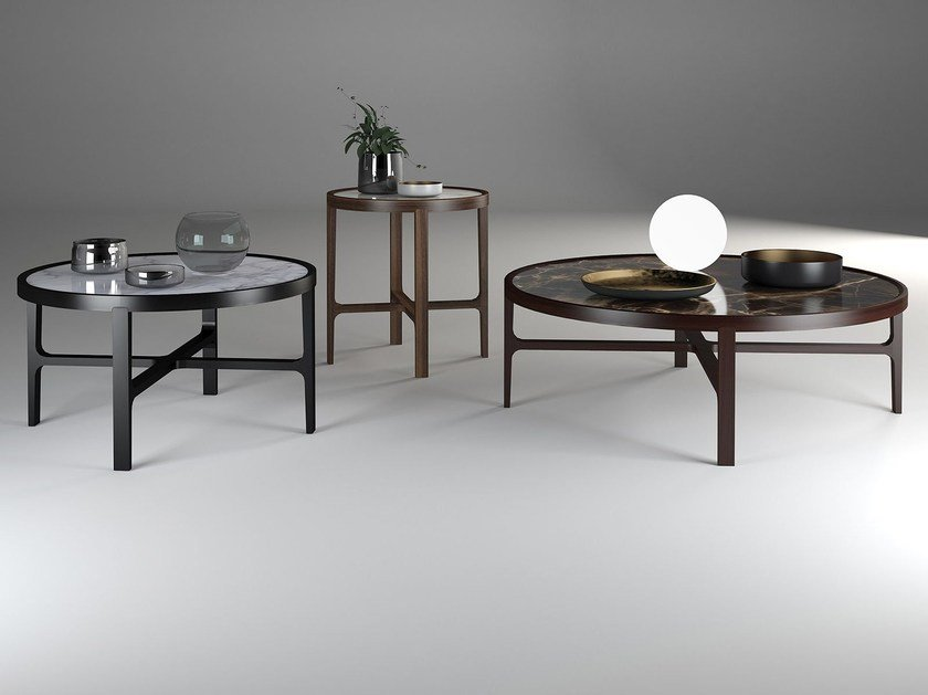 Round coffee table for living room CYCLOS by ALIVAR