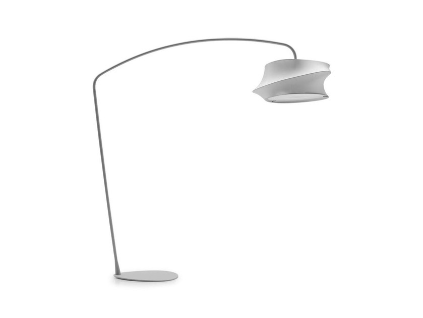 Fabric arc lamp CYGNUS | Floor lamp by Calligaris