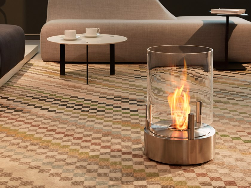 Freestanding bioethanol fireplace CYL by EcoSmart Fire