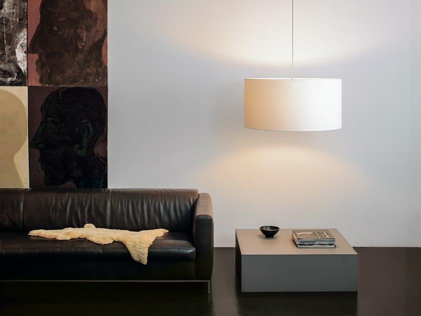 Fabric pendant lamp CYLS_DRUM by filumen