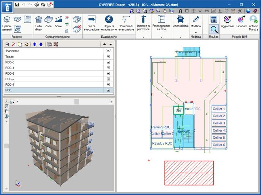 Progettazione impianto antincendio CYPEFIRE DESIGN by ATH ITALIA software