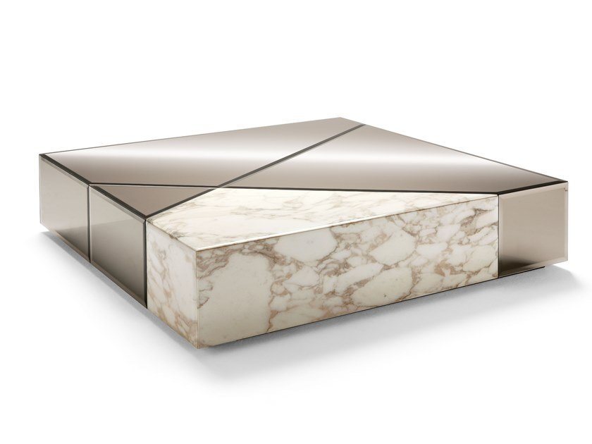 Square marble coffee table CYRANO | Coffee table by OPERA CONTEMPORARY