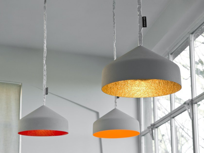 Resin pendant lamp CYRCUS CEMENTO by In-es.artdesign
