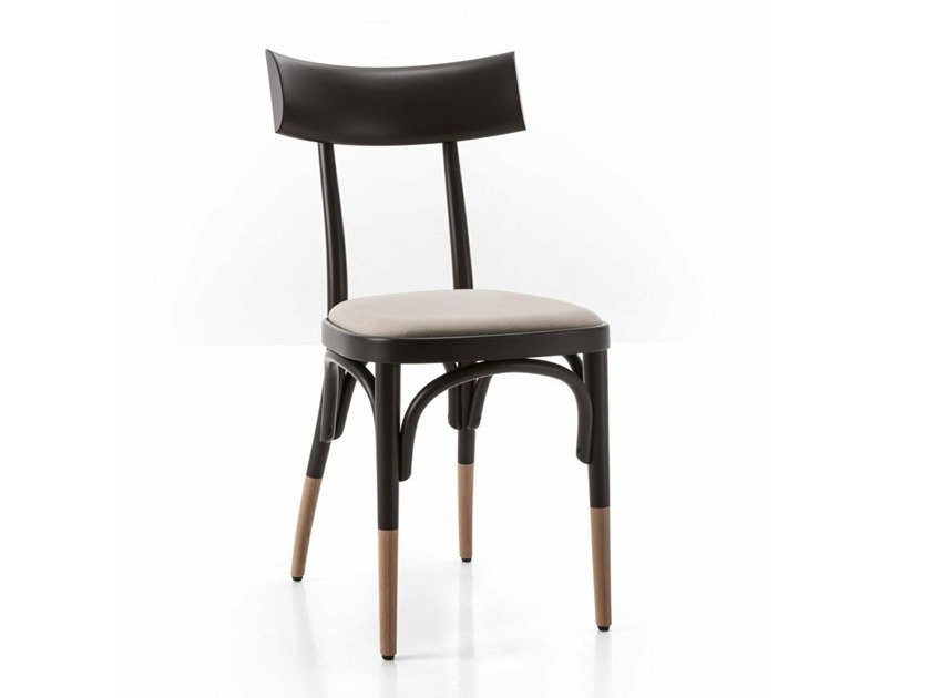 Beech chair with integrated cushion CZECH | Chair with integrated cushion by Wiener GTV Design