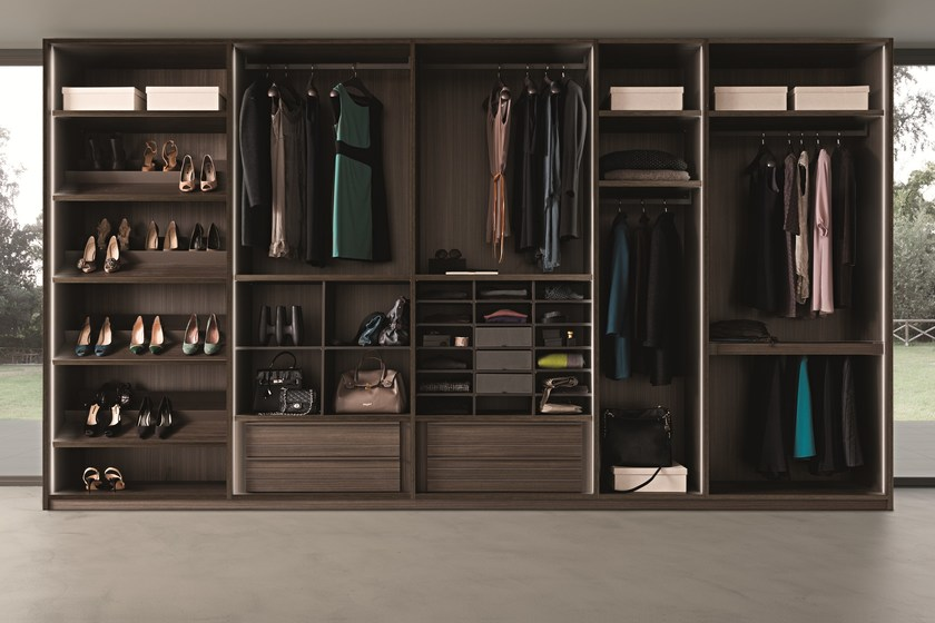 Contemporary style sectional wooden walk-in wardrobe Cabina ...