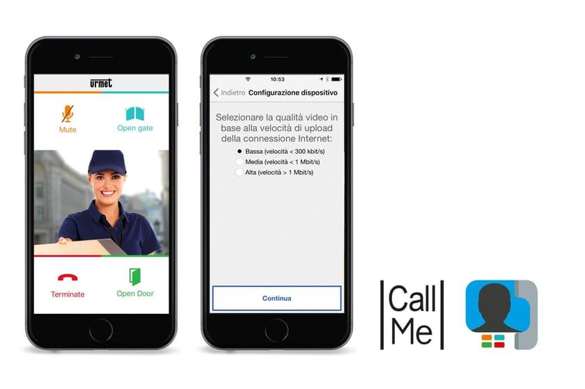 CallMe App Urmet CallMe, disponibile per sistemi Android e iOS