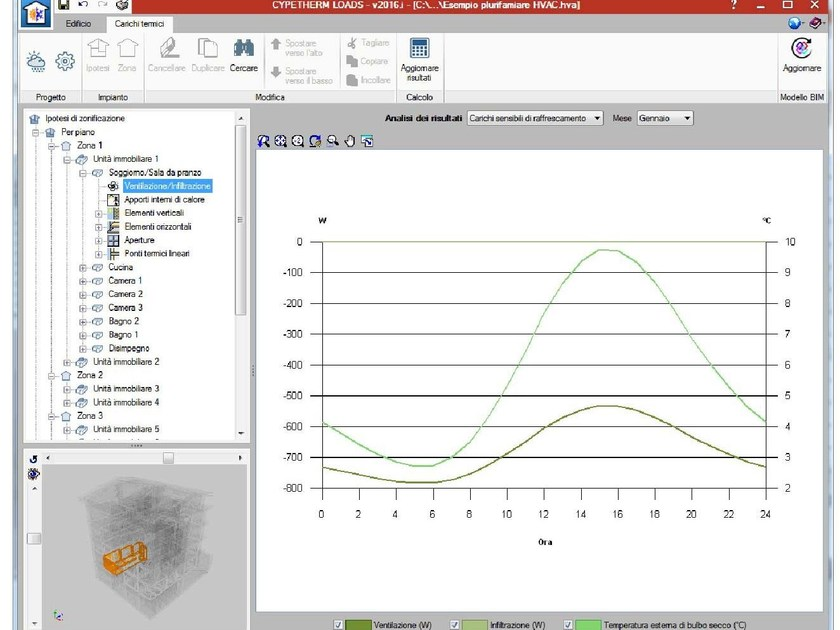 Calculation of summer air-conditioning system Calculation of air-conditioning by ATH ITALIA software